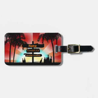 Address label - Summer Style Beach - palm trees Luggage Tag