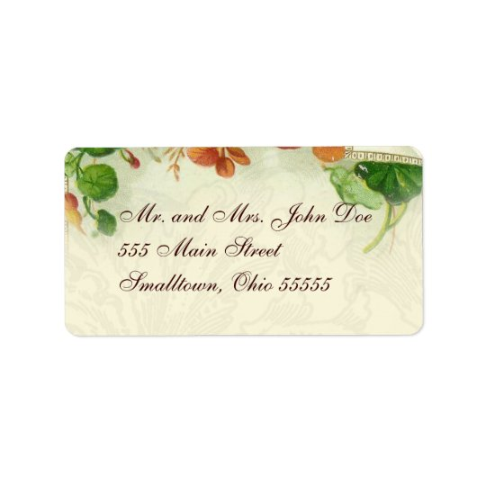 Address label templates Floral