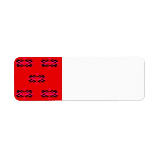 Address label with Vintage Ornaments RED