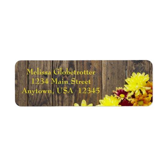 Address Labels--Autumn Wedding Return Address Label