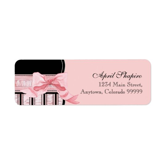Address Labels - Baby Shower French Bow and Dots