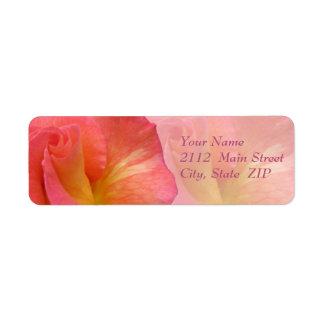 "Address Labels--""Mardi Gras"" Rose"