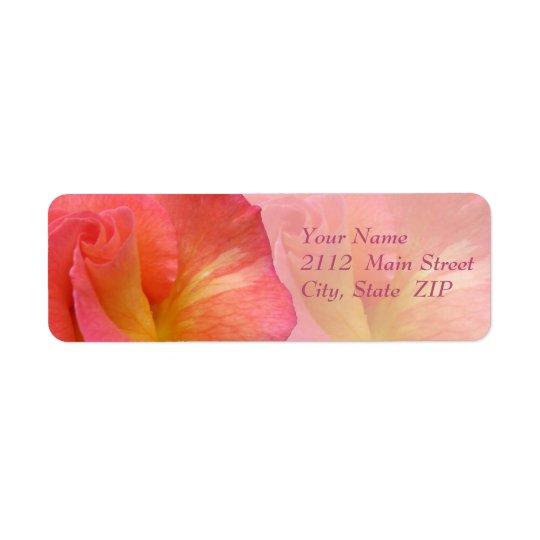 "Address Labels--""Mardi Gras"" Rose Return Address Label"