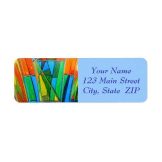 Address Labels--Murano Glass Orange Return Address Label