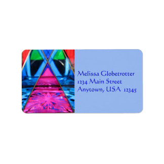 Address Labels--Murano Glass Pink Triangle Label