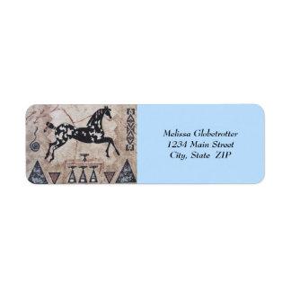Address Labels--Native American Art Return Address Label
