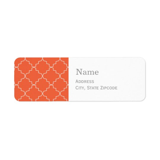 Address Labels  |  Orange