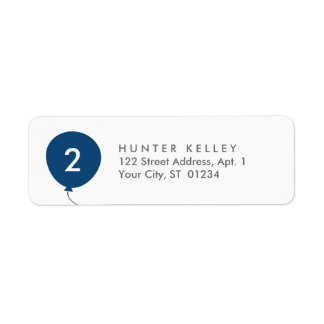 Address Labels, Personalized Navy Blue Balloon Return Address Label