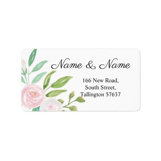Address Labels Pretty Pink White Flower Floral