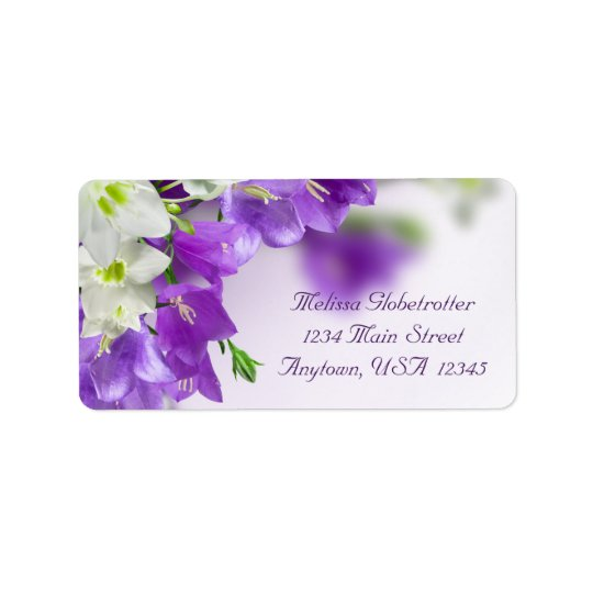 Address Labels--Purple Flowers V