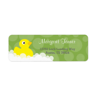 Address Labels - Rubber Ducky Design - Green