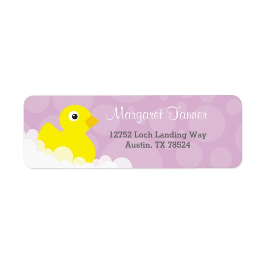 Address Labels - Rubber Ducky Design - Lilac
