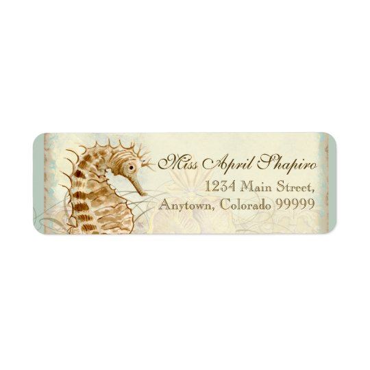 Address Labels - Sea Horse Coastal Beach