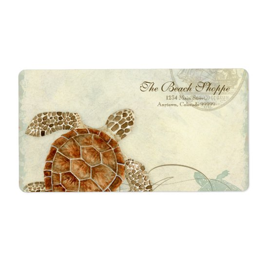Address Labels - Sea Turtle Coastal Beach