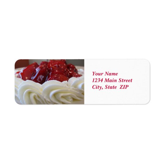 Address Labels--Strawberry Cake