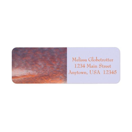 Address Labels--Sunset Clouds Return Address Label