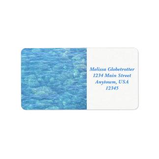 Address Labels--Tide Pool Label