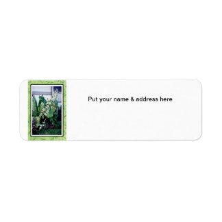 Address Labels-Tropical Garden Return Address Label