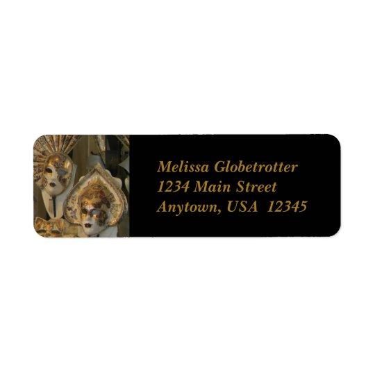 Address Labels--Venetian Masks Return Address Label