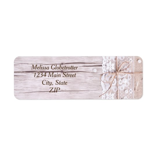 Address Labels--Wood & Lace