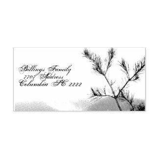 Address Self Ink Rubber Stamp w/Mountain Pine