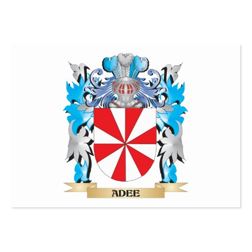 Adee Coat Of Arms Business Card Template