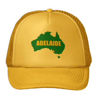 Adelaide Green and Gold Map Cap Trucker Hat