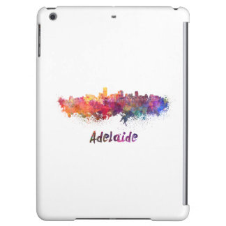 Adelaide skyline in watercolor cover for iPad air