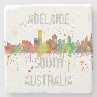 ADELAIDE, SOUTH AUSTRALIA SKYLINE STONE COASTER