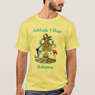 Adelaide Village, Bahamas with Coat of Arms T-Shirt