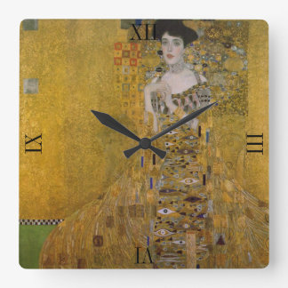 Adele Bloch Bauer by Gustav Klimt Square Wall Clock