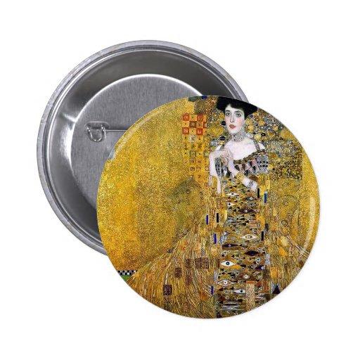 Adele Bloch-Bauer's Portrait  by Gustav Klimt Pinback Buttons
