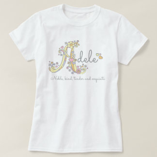 Adele girls name decorative custom meaning T-Shirt
