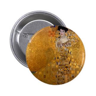 Adele, The Lady in Gold - Gustav Klimt 2 Inch Round Button