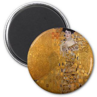 Adele, The Lady in Gold - Gustav Klimt 2 Inch Round Magnet