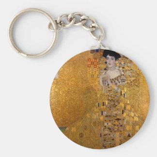 Adele, The Lady in Gold - Gustav Klimt Basic Round Button Keychain