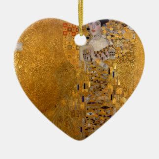 Adele, The Lady in Gold - Gustav Klimt Ceramic Heart Ornament