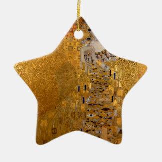 Adele, The Lady in Gold - Gustav Klimt Ceramic Star Ornament