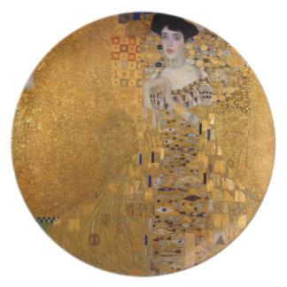 Adele, The Lady in Gold - Gustav Klimt Dinner Plate