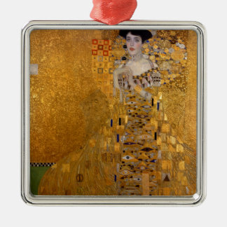 Adele, The Lady in Gold - Gustav Klimt Silver-Colored Square Ornament