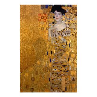 Adele, The Lady in Gold - Gustav Klimt Stationery Design