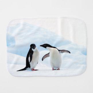 Adelie Penguins Baby Burp Cloths