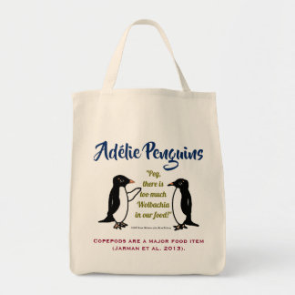 Adélie Penguins by RoseWrites Tote Bag