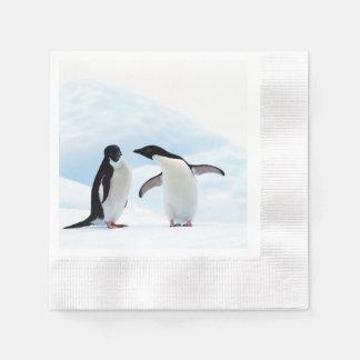Adelie Penguins Disposable Napkin