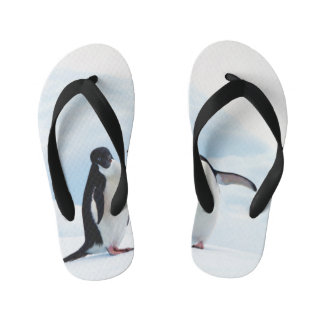 Adelie Penguins Kid's Flip Flops
