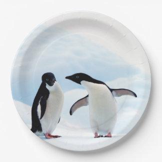 Adelie Penguins Paper Plate