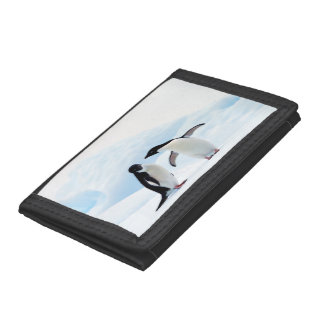 Adelie Penguins Tri-fold Wallets