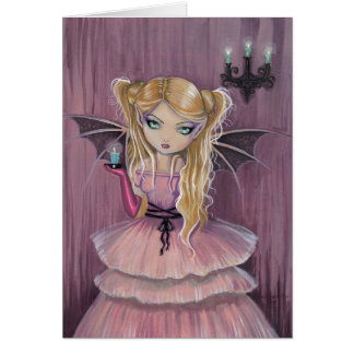 Adeline in Pink Gothic Vampire Card