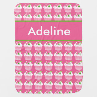 Adeline's Personalized Cupcake Blanket