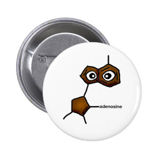 Adenosine Neurotransmitter 2 Inch Round Button
